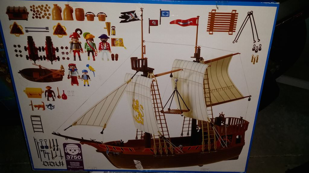 Playmobil 3750v2 - Pirate ship - Back