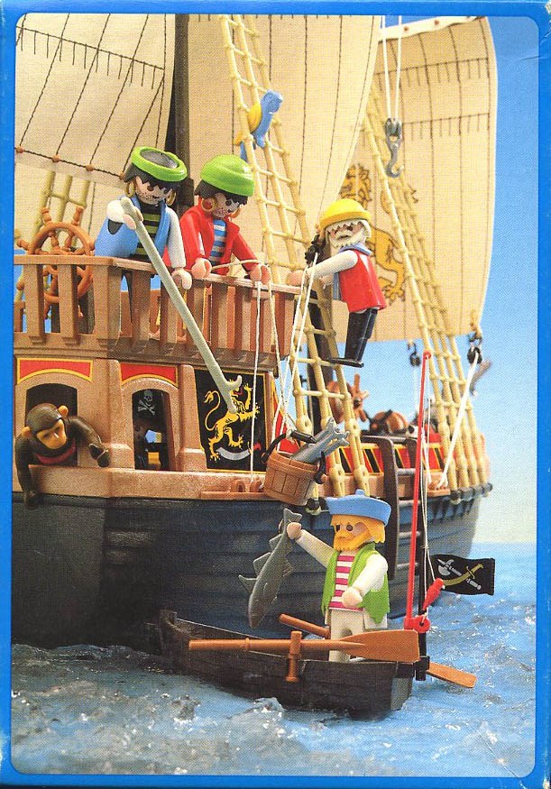 Playmobil 3792-ant - pirate / rowboat - Back