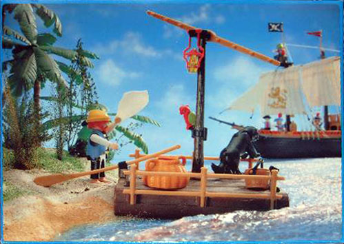 Playmobil 3793-esp - pirate / raft - Back
