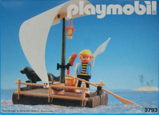 Playmobil - 3793-esp - pirate / raft