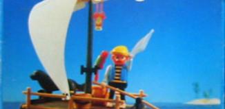 Playmobil - 3793-ant - pirate / raft (white sail)