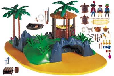 Playmobil 3799 - Treasure island - Back