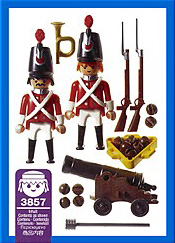 Playmobil 3857 - Redcoats watch post - Back