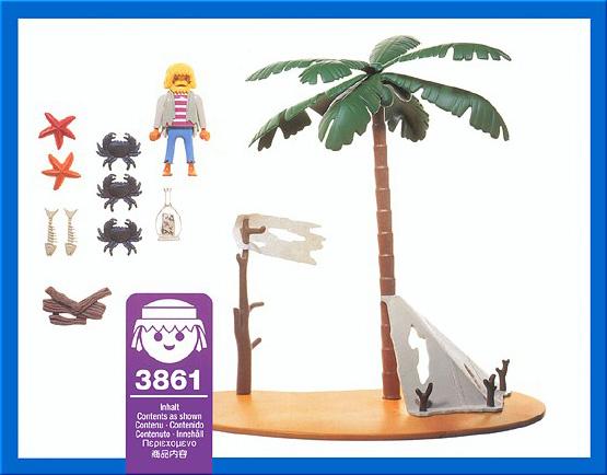 ... Playmobil 3861 - Pirate island - Back