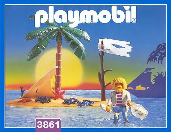 Playmobil 3861 - Pirate island - Box ...