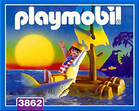 Playmobil 3862 - castaway with shark - Box