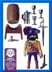 Playmobil 3863 - Pirate Captain - Back