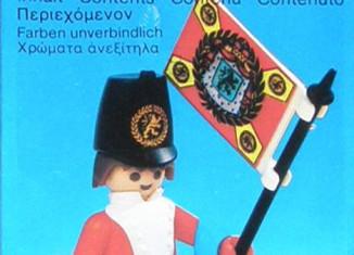 Playmobil - 3388-lyr - redcoat guard / flag