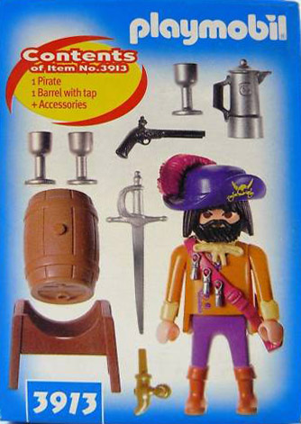 Playmobil 3913-usa - Pirate captain - Back