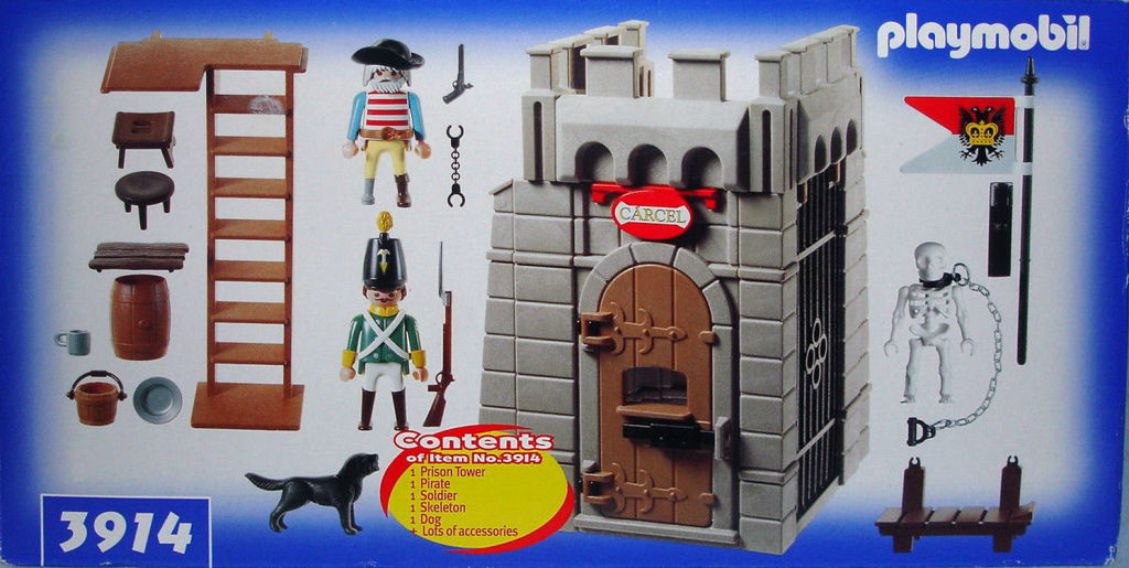 Playmobil 3914-usa - Prison tower - Back