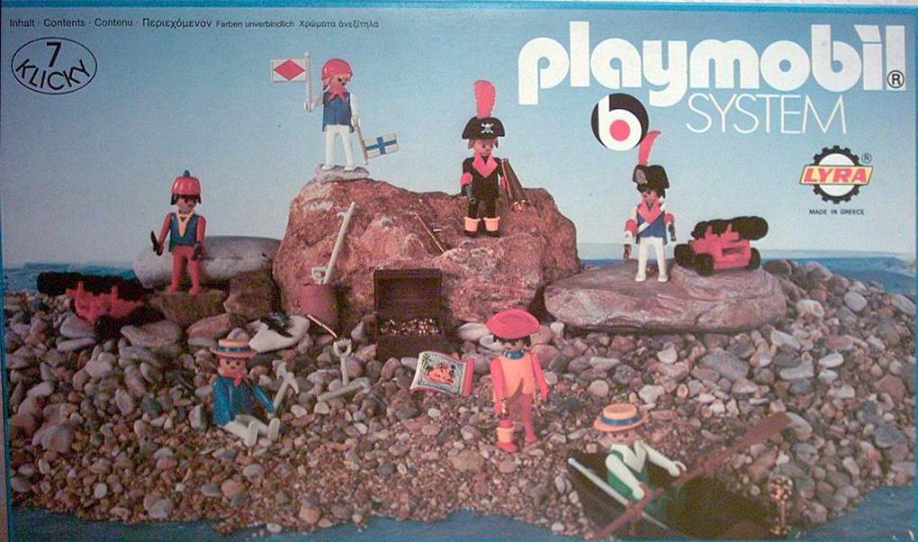 Playmobil 3L21-lyr - 7 pirates - Box