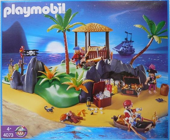 Playmobil 4073-ger - Treasure island - Box