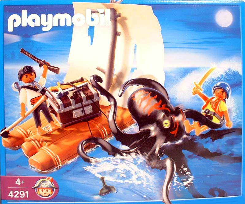 Playmobil 4291 - raft with giant octopus - Box