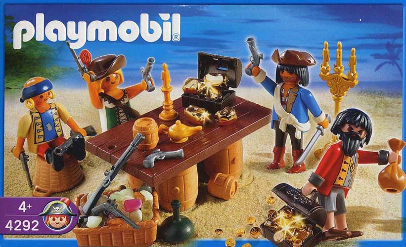 Playmobil 4292 - Pirate gang with booty treasure - Box