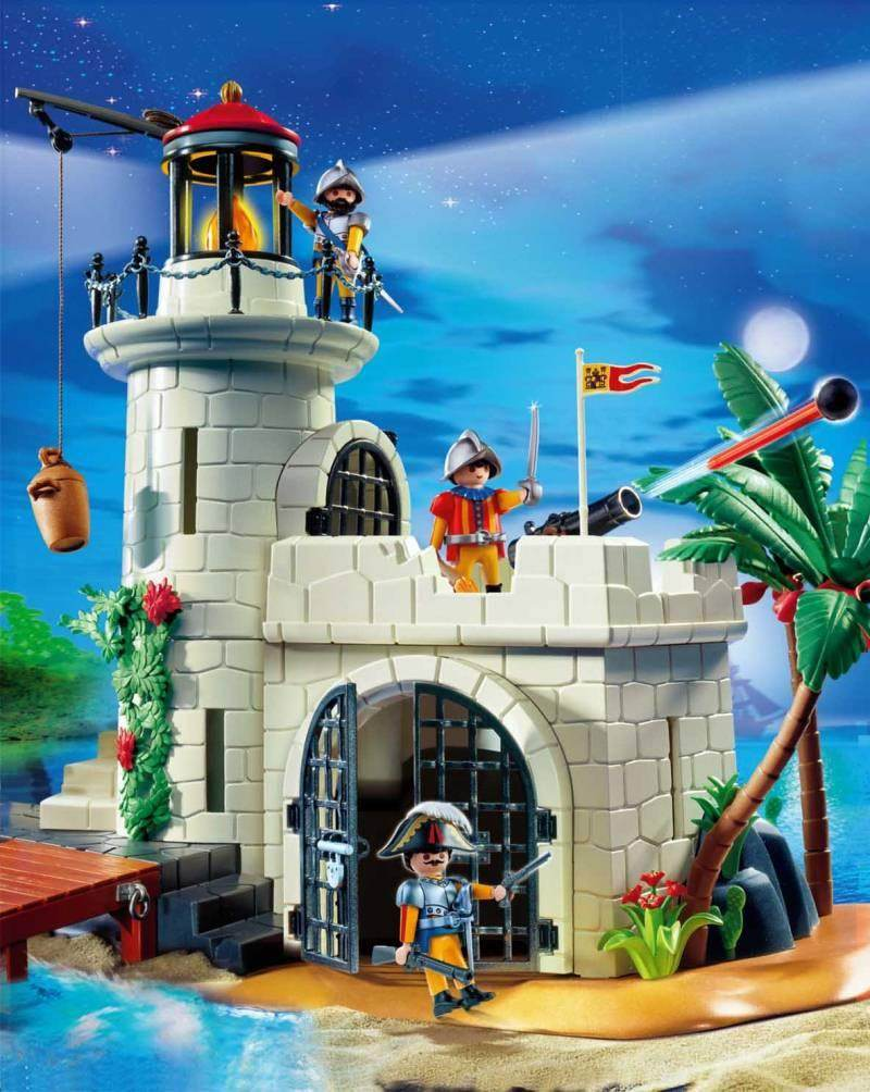 playmobil set 4294v1 soldiers fortress with lighthouse. Black Bedroom Furniture Sets. Home Design Ideas