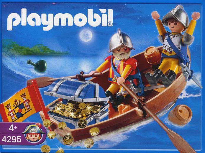 Playmobil 4295 - Treasure shipment with rowboat - Box
