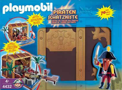 Playmobil 4432 - Piratenschatztruhe - Box