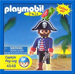 Playmobil 4548v1-usa - Captain peg-leg - Box