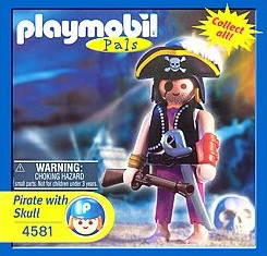 Playmobil - 4581-usa - pirate with skull