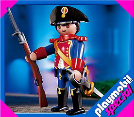 Playmobil 4611 - blue coat guard - Box