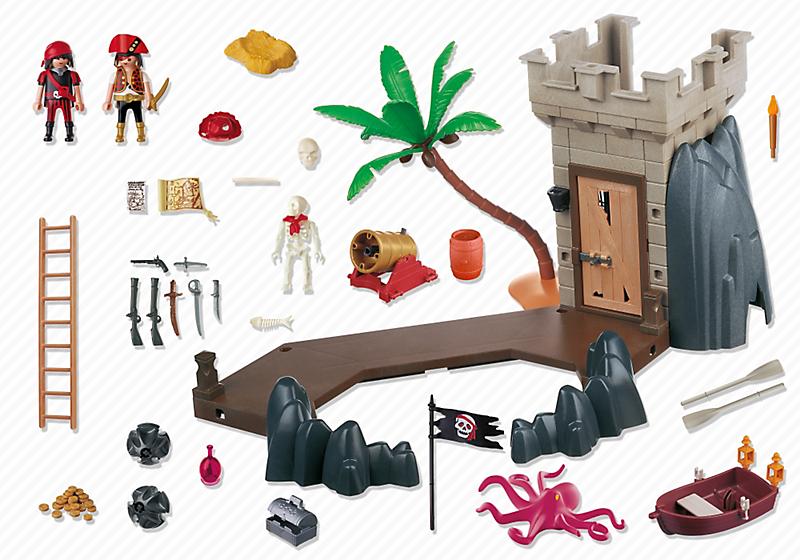 Playmobil 5622-usa - pirate club set - Back