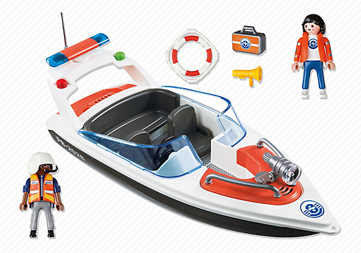 Playmobil 5625-ukp - Coastal Rescue Boat - Back
