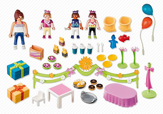 Playmobil 5627-usa - Childrens Birthday Party - Back