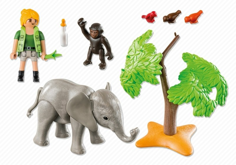 Playmobil 5628-usa - Carrying Case African Wildlife - Back