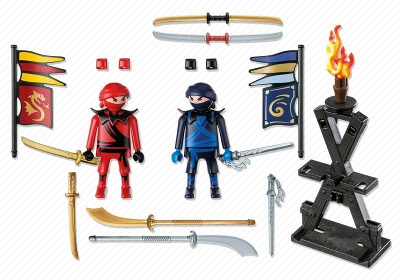 Playmobil 5629-usa - Carrying Case Ninja - Back