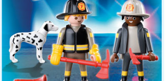 Playmobil - 5942 - Fire Fighters and Dog Duo Pack
