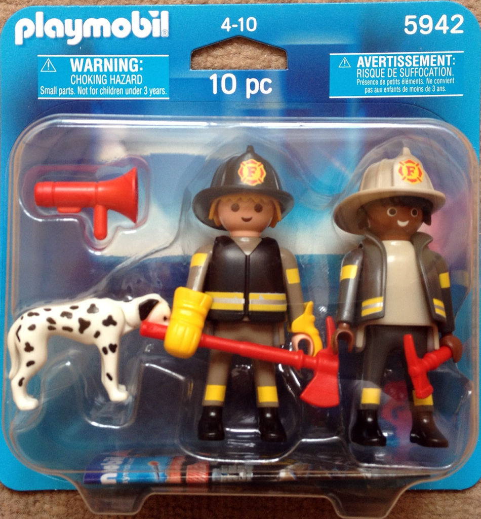 Playmobil 5942 - Fire Fighters and Dog Duo Pack - Box