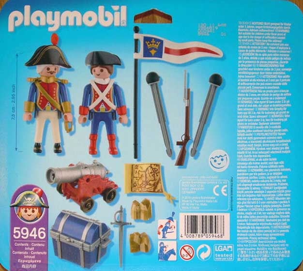 Playmobil 5946-usa - soldiers big blister - Back