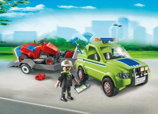 Playmobil - 6111 - Pick-up with lawnmower