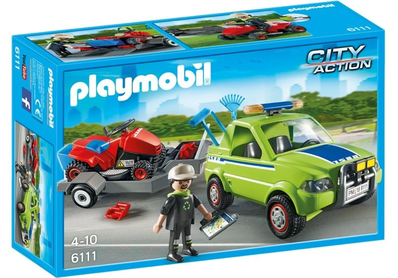 Playmobil 6111 - Pick-up with lawnmower - Box