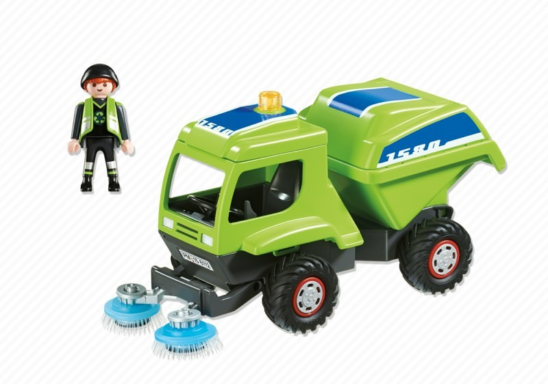 Playmobil 6112 - STREET SWEEPER STREET CLEANING TRUCK - Back