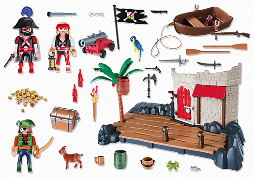 Playmobil 6146 - Pirate Fort SuperSet - Back