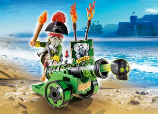 Playmobil - 6162 - green cannon with pirate captain
