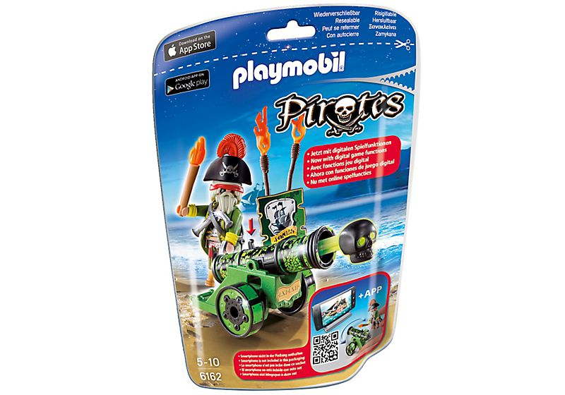 Playmobil 6162 - green cannon with pirate captain - Box