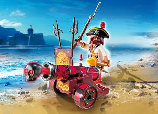 Playmobil - 6163 - Red Cannon with Privateer