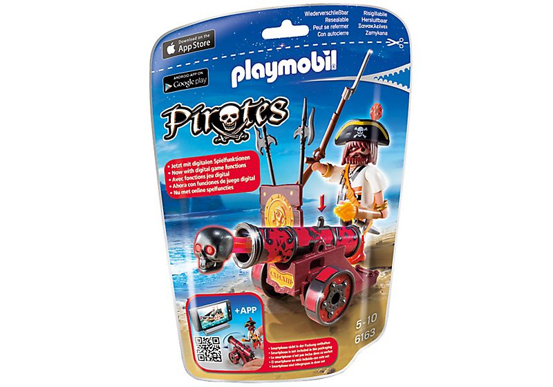 Playmobil 6163 - Red Cannon with Privateer - Box