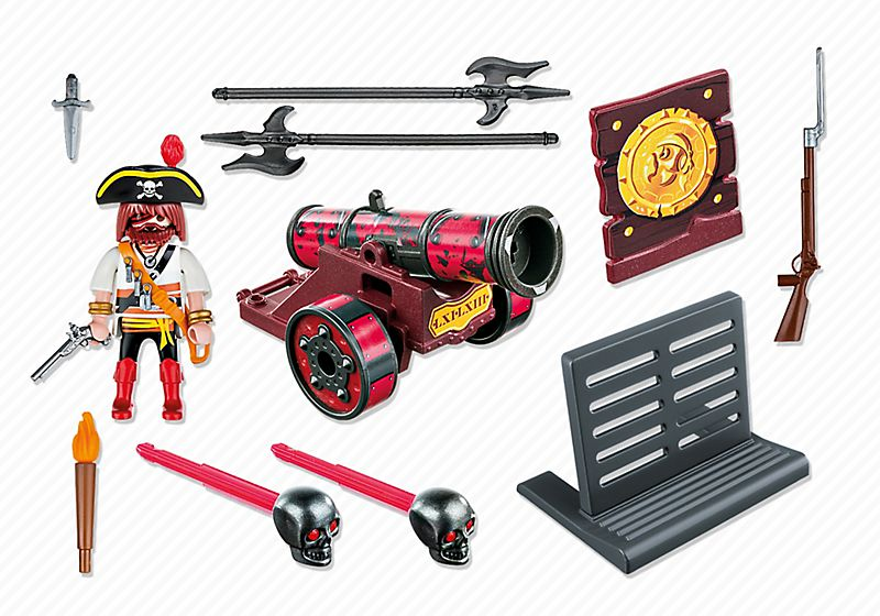 Playmobil 6163 - Red Cannon with Privateer - Back