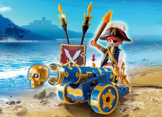 Playmobil - 6164 - blue cannon with pirate officer