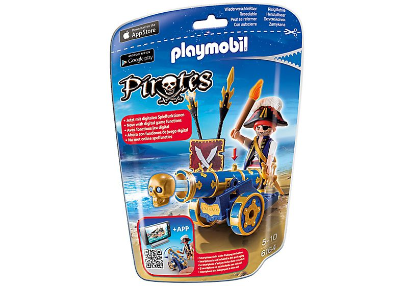 Playmobil 6164 - blue cannon with pirate officer - Box