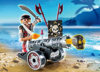Playmobil - 6165 - Black Interactive Cannon with Raider