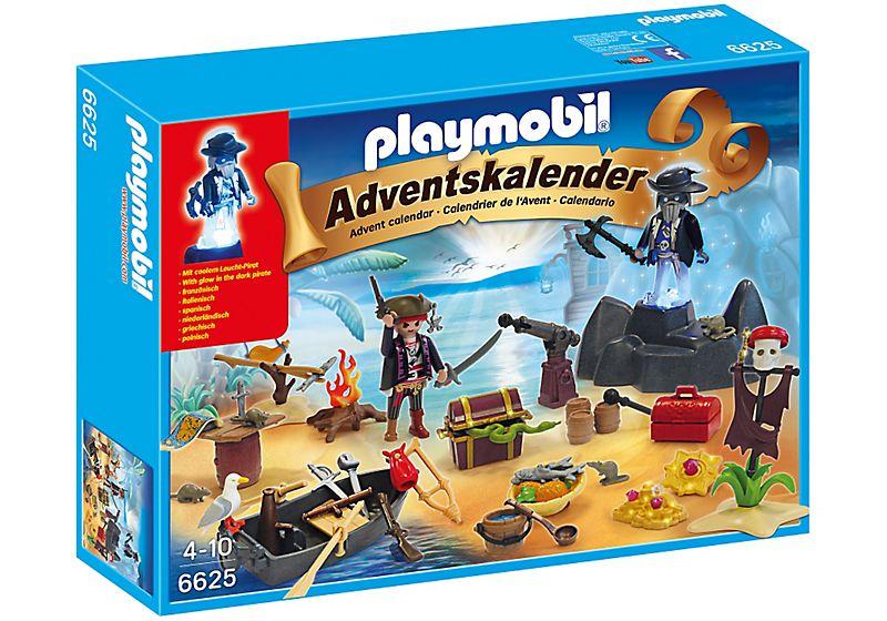 "Playmobil 6625 - advent calendar ""mysterious treasure island"" - Box"