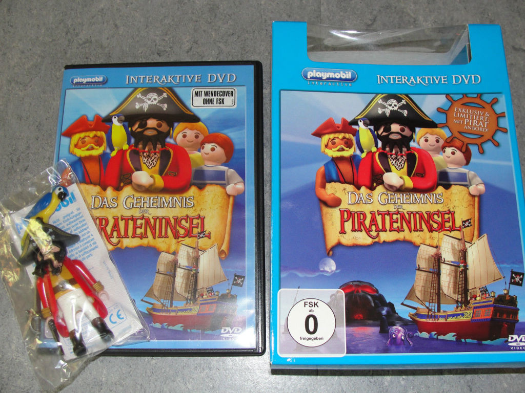 Playmobil 80234 - Interactive DVD - The Secret of the Pirate Island + figure - Back