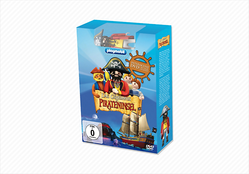 Playmobil 80234 - Interactive DVD - The Secret of the Pirate Island + figure - Box