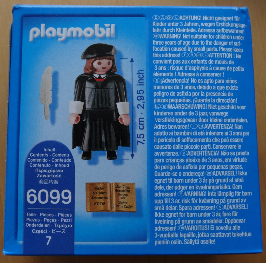 Playmobil 6099-ger - Martin Luther - Back