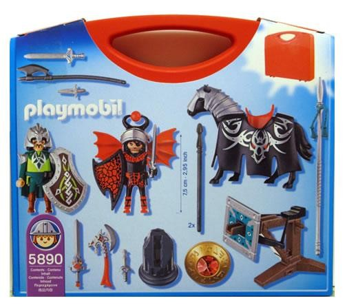 Playmobil 5890-usa - Carrying Case Dragonland - Back