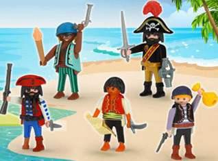 Playmobil - quick magic box piratas promocionales